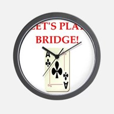duplicate bridge Wall Clock
