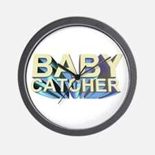 Baby catcher - for midwives -  Wall Clock