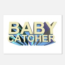 Baby catcher - for midwives -  Postcards (Package