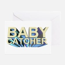 Baby catcher - for midwives - Greeting Cards (Pac