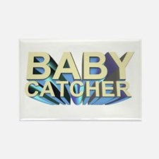 Baby catcher - for midwives - Rectangle Magnet