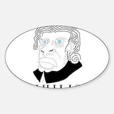 Nihilist Philosophy Sticker (Oval)