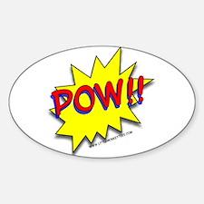 POW!! Superhero Oval Decal
