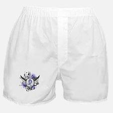 Lymphedema Grunge Ribbon Wings Boxer Shorts