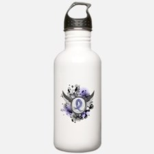 Lymphedema Grunge Ribb Sports Water Bottle