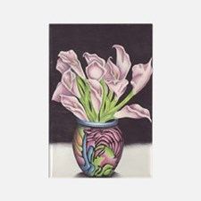 Lily's of the Vase Rectangle Magnet