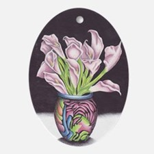 Lily's of the Vase Oval Ornament