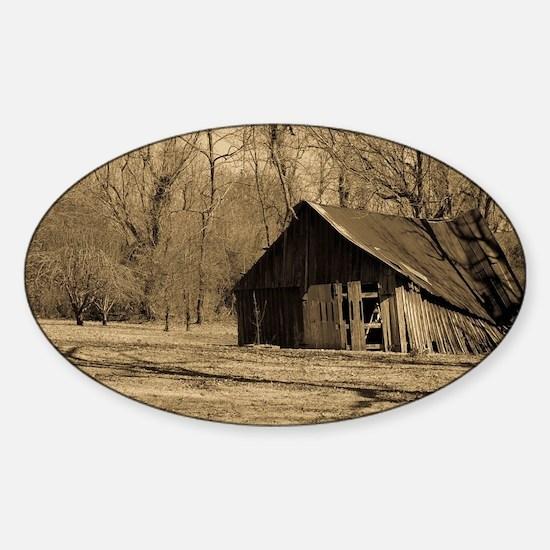Old Barn Sticker (Oval)