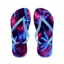 Dragonfly Cherry Splash Flip Flops