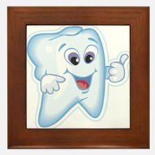 Healthy Happy Tooth Dentist Framed Tile