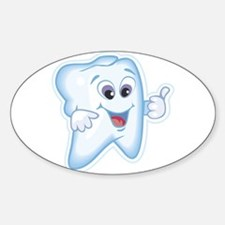 Healthy Happy Tooth Dentist Sticker (Oval)