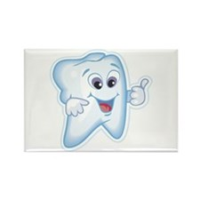 Healthy Happy Tooth Dentist Rectangle Magnet