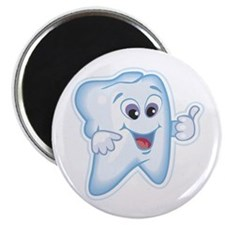 "Healthy Happy Tooth Dentist 2.25"" Magnet (100 pack"