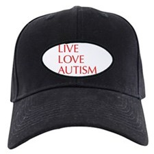 LIVE-LOVE-AUTISM-opt-red Baseball Hat