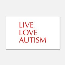 LIVE-LOVE-AUTISM-opt-red Car Magnet 20 x 12