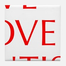 LIVE-LOVE-AUTISM-opt-red Tile Coaster
