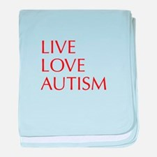 LIVE-LOVE-AUTISM-opt-red baby blanket