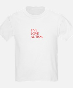 LIVE-LOVE-AUTISM-opt-red T-Shirt