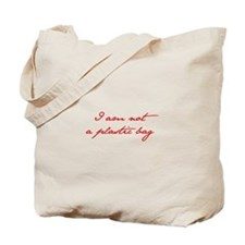 I-am-not-plastic-bag-jan-red Tote Bag