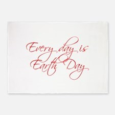 every-day-is-earth-day-scr-red 5'x7'Area Rug
