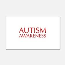 autism-awareness-OPT-RED Car Magnet 20 x 12
