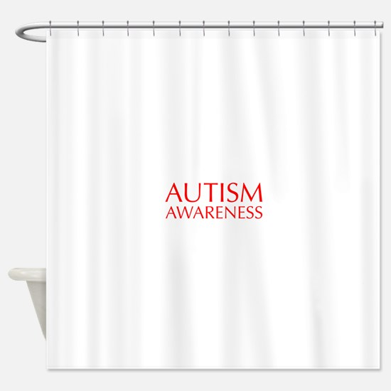 autism-awareness-OPT-RED Shower Curtain