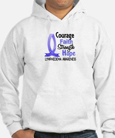 Lymphedema Courage Faith 1 Hoodie