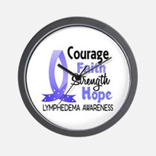 Lymphedema Courage Faith 1 Wall Clock
