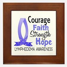 Lymphedema Courage Faith 1 Framed Tile