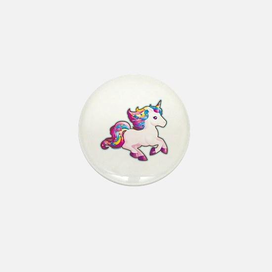Kawaii Magical Candy Unicorn Mini Button
