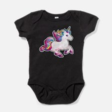 Kawaii Magical Candy Unicorn Baby Bodysuit