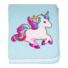 Kawaii Magical Candy Unicorn baby blanket