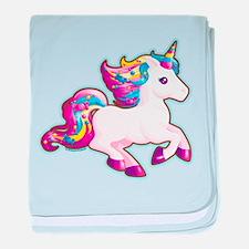 Kawaii Magical Candy Unicorn baby blanket
