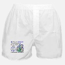 Lymphedema Christmas Penguins Boxer Shorts