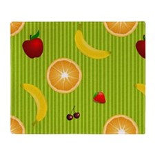 Colorful Fruit Throw Blanket