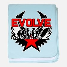 Snowmobile Evolution baby blanket