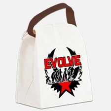 Snowmobile Evolution Canvas Lunch Bag