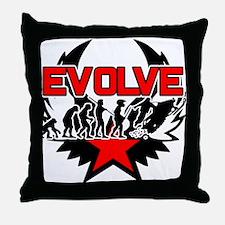 Snowmobile Evolution Throw Pillow