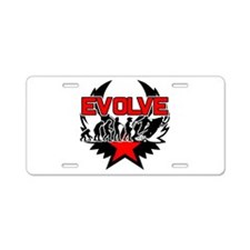 Snowmobile Evolution Aluminum License Plate