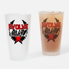 Snowmobile Evolution Drinking Glass