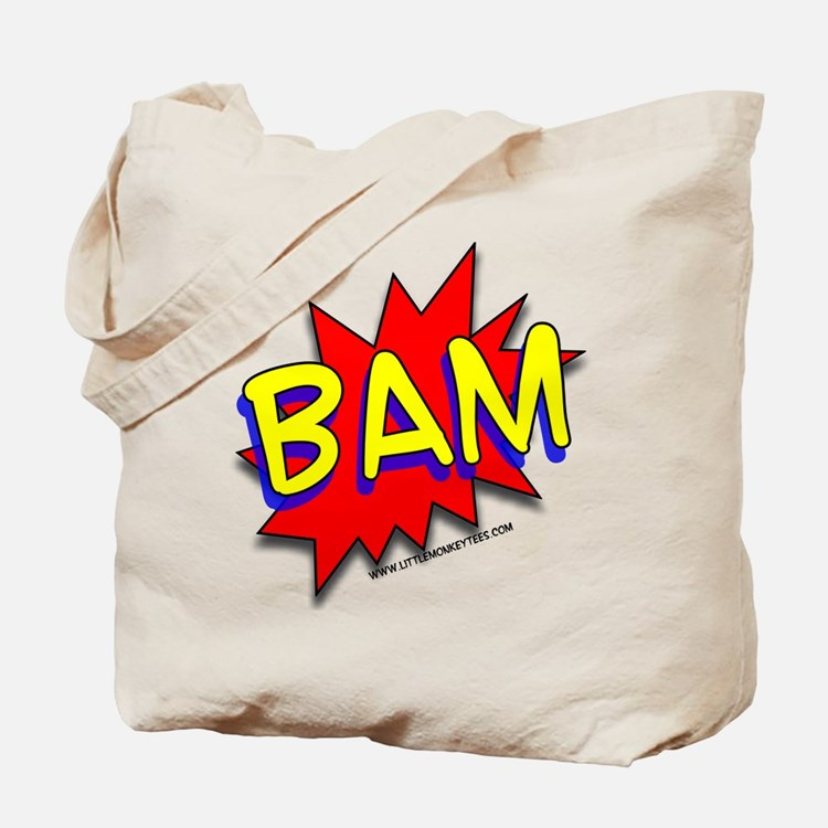BAM Comic saying Tote Bag