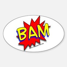 BAM Comic saying Oval Decal