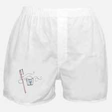 Toothbrush And Floss Dentist Boxer Shorts