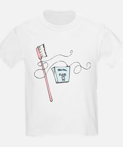 Toothbrush And Floss Dentist T-Shirt