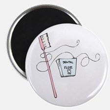 """Toothbrush And Floss Dentist 2.25"""" Magnet (10 pack"""