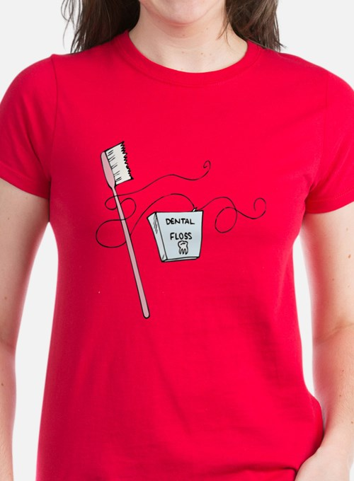 Toothbrush And Floss Dentist Tee