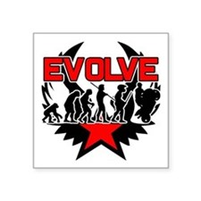 """Motorcycle Evolution Square Sticker 3"""" x 3"""""""
