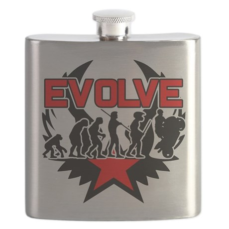 Motorcycle Evolution Flask