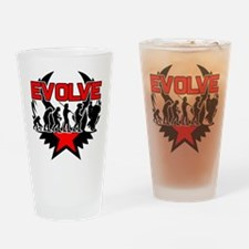 Motorcycle Evolution Drinking Glass