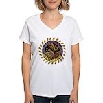 Morelaholic morel gifts Women's V-Neck T-Shirt